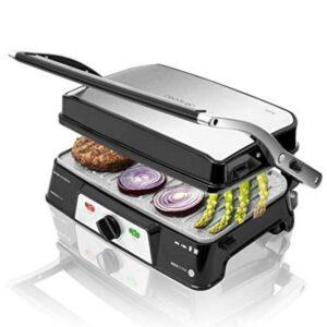 Grill de Contacto Cecotec Rock'n grill 1500 Take&Clean 1500W Preto Prateado