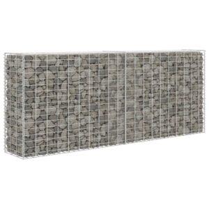 Parede/cesto gabião 85x30x200 cm aço galvanizado  - PORTES GRÁTIS