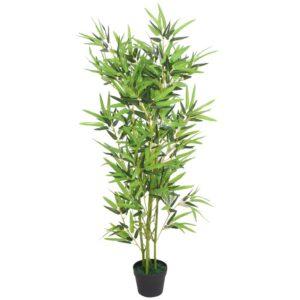 Planta bambu artificial com vaso 120 cm verde - PORTES GRÁTIS