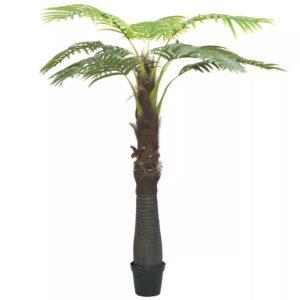 Árvore palmeira artificial com vaso 240 cm verde - PORTES GRÁTIS