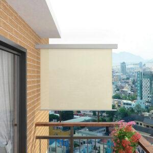 Toldo lateral para varanda multifuncional 150x200 cm creme - PORTES GRÁTIS