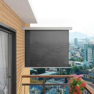 Toldo lateral para varanda multifuncional 150x200 cm cinzento - PORTES GRÁTIS