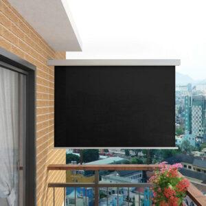 Toldo lateral para varanda multifuncional 180x200 cm preto - PORTES GRÁTIS