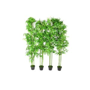Planta Artificial em Vaso Bambu  190cm 4 peças - PORTES GRÁTIS
