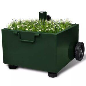 Suporte para guarda-sol/vaso floreira de exterior verde - PORTES GRÁTIS