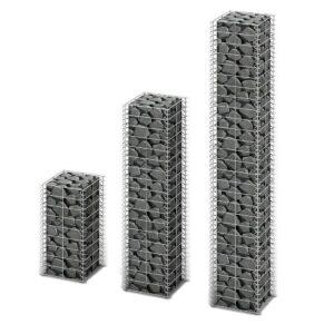 Conjunto de gabiões 3 pcs arame galvanizado  - PORTES GRÁTIS