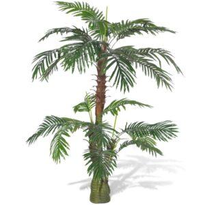 Planta artificial, palmeira Cycus, 150 cm - PORTES GRÁTIS