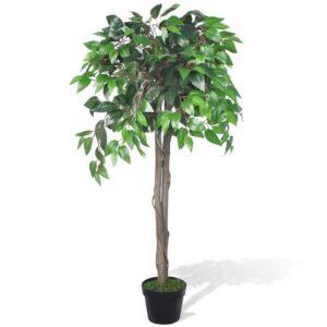 Planta artificial, ficus, com vaso, 110 cm - PORTES GRÁTIS