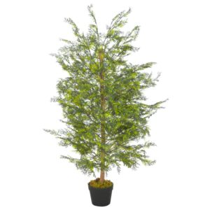 Planta cipreste artificial com vaso 120 cm verde - PORTES GRÁTIS