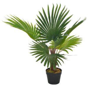 Palmeira artificial com vaso 70 cm verde - PORTES GRÁTIS