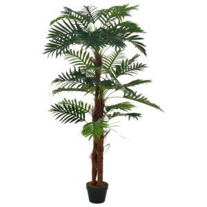 Palmeira artificial com vaso 165 cm verde - PORTES GRÁTIS