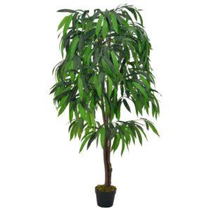 Planta mangueira artificial com vaso verde 140 cm - PORTES GRÁTIS