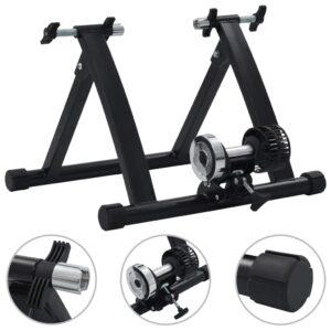 Rolo de treino para bicicleta roda 26-28 aço preto  - PORTES GRÁTIS