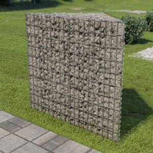 Canteiro elevado/cesto gabião 75x75x100 cm aço galvanizado - PORTES GRÁTIS