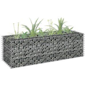 Gabião para plantas em aço galvanizado 90x30x30 cm - PORTES GRÁTIS