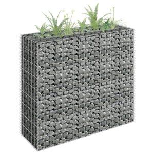 Canteiro elevado/cesto gabião 90x30x90 cm aço galvanizado - PORTES GRÁTIS
