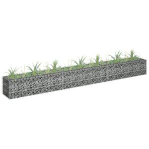 Gabião para plantas em aço galvanizado 270x30x30 cm - PORTES GRÁTIS
