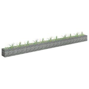 Gabião para plantas em aço galvanizado 450x30x30 cm - PORTES GRÁTIS
