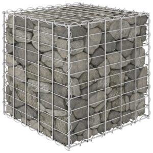 Canteiro elevado/cubo gabião 50x50x50 cm cm fio de aço  - PORTES GRÁTIS
