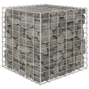 Canteiro elevado/cubo gabião 60x60x60 cm fio de aço  - PORTES GRÁTIS