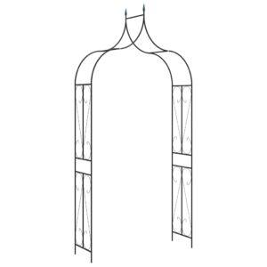 Arco de jardim 120x38x258 cm ferro preto  - PORTES GRÁTIS