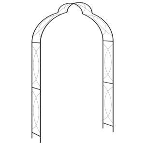 Arco de jardim 150x34x240 cm ferro preto  - PORTES GRÁTIS