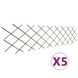 Cercas em treliça salgueiro 5 pcs 180x60 cm - PORTES GRÁTIS