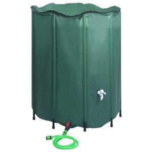 Depósito para água da chuva dobrável com torneira 1000 L - PORTES GRÁTIS