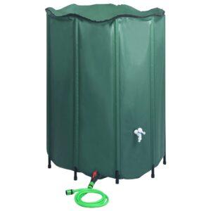 Depósito para água da chuva dobrável com torneira 1250 L - PORTES GRÁTIS