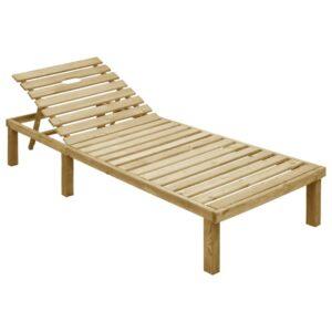Espreguiçadeira madeira de pinho impregnada - PORTES GRÁTIS