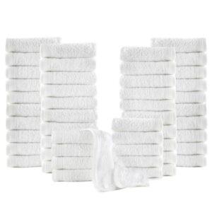 Toalhas de hóspedes 50 pcs algodão 350 g 30x30 cm branco  - PORTES GRÁTIS
