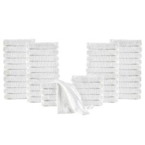 50 Toalhas de hóspedes algodão 350 g 30x50 cm branco  - PORTES GRÁTIS