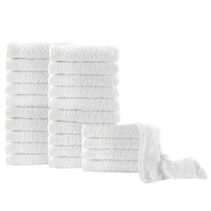 Toalhas de hóspedes 25 pcs algodão 350 g 30x50 cm branco  - PORTES GRÁTIS