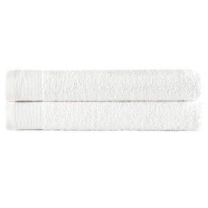 Toalhas de mãos 2 pcs algodão 450 g 50x100 cm branco  - PORTES GRÁTIS