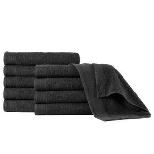 Toalhas de mãos 5 pcs algodão 450 g 50x100 cm preto - PORTES GRÁTIS