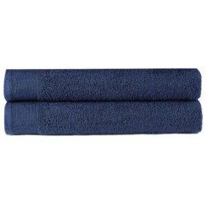 Toalhas de mãos 2 pcs algodão 450 g 50x100 cm azul-marinho - PORTES GRÁTIS