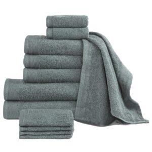 Conjunto de toalhas 12 pcs algodão 450 g verde - PORTES GRÁTIS