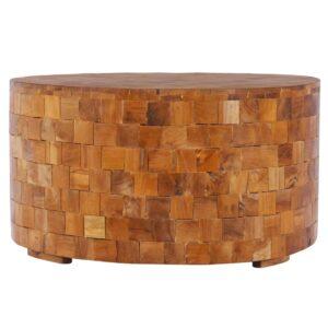 Mesa de centro 60x60x35cm  madeira de teca maciça  - PORTES GRÁTIS