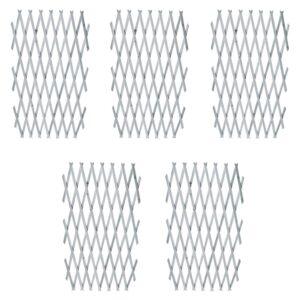 Cercas em treliça 5 pcs 180x90 cm madeira abeto maciça cinzento - PORTES GRÁTIS