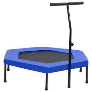 Trampolim com pega e almofada de segurança hexagonal 122 cm - PORTES GRÁTIS