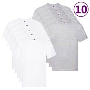 Fruit of the Loom T-shirts originais 10 pcs algodão XL - PORTES GRÁTIS