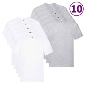 Fruit of the Loom T-shirts originais 10 pcs algodão 5XL - PORTES GRÁTIS