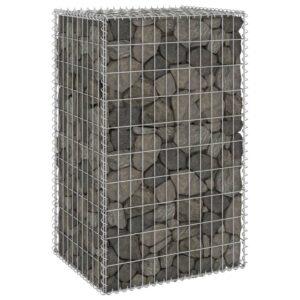 Muro gabião com tampas aço galvanizado 60x50x100 cm - PORTES GRÁTIS