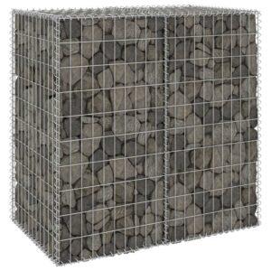 Muro gabião com tampas aço galvanizado 100x60x100 cm - PORTES GRÁTIS