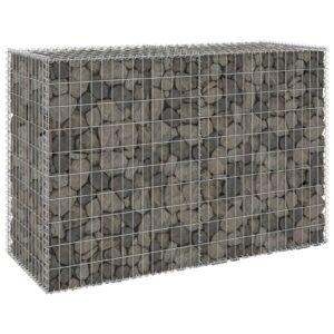 Muro gabião com tampas aço galvanizado 150x60x100 cm - PORTES GRÁTIS