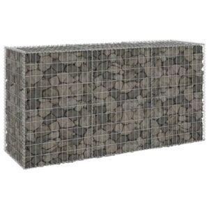Muro gabião com tampas aço galvanizado 200x60x100 cm - PORTES GRÁTIS