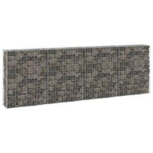 Muro gabião com tampas aço galvanizado 300x30x100 cm - PORTES GRÁTIS