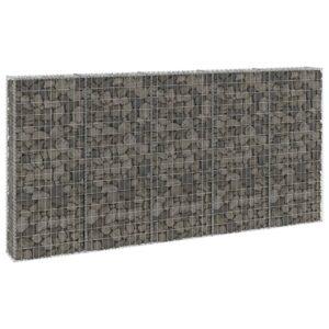 Muro gabião com tampas aço galvanizado 300x30x150 cm - PORTES GRÁTIS