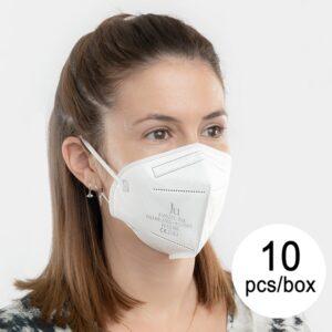 Máscara de Proteção Respiratória FFP2 NR JU FM0201-966 5 camadas (Pack de 10)