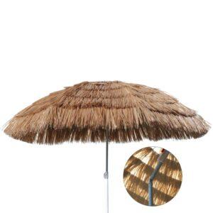 HI Guarda-sol praia Hawaï 160 cm bege - PORTES GRÁTIS
